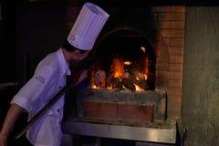 Roast Duck cooking Dadong restaurant Beijing China Royalty Free Stock Image