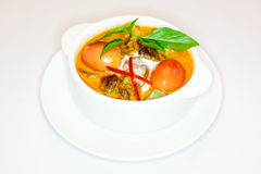 Roast duck curry soup Stock Photo