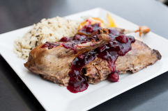 Roast duck dish Stock Image