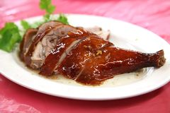 Roast duck leg Stock Photo