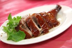 Roast duck leg Royalty Free Stock Image