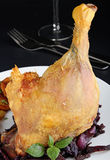 Roast duck leg Royalty Free Stock Images
