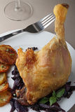 Roast duck leg Stock Photography
