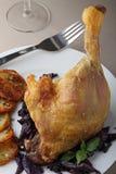 Roast duck leg Stock Photography