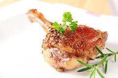 Roast duck leg Stock Photos