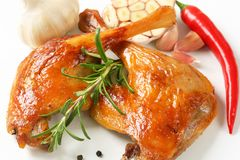 Roast duck legs Stock Image