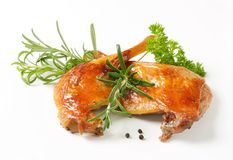Roast duck legs Stock Images