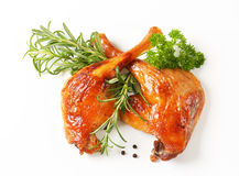 Roast duck legs Stock Photography