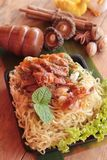 Roast duck noodle is delicious. Roast duck noodle is delicious stock photo