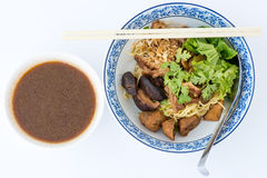 Roast duck with noodle in pot-stewed soup Stock Image