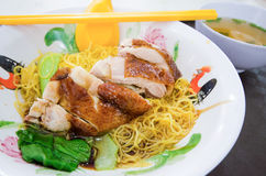 Roast duck noodle with soup Stock Image