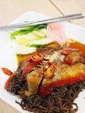Roast duck noodles Stock Photo