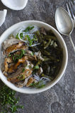 Roast duck with noodles Stock Photo