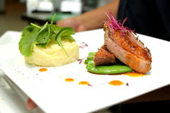 Roast duck with orange sauce Royalty Free Stock Image
