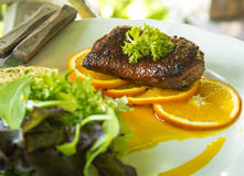 Roast duck with orange and vetgetable Stock Photography