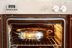 Roast duck in the oven Royalty Free Stock Photo