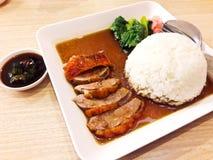Roast Duck over Rice Stock Photos