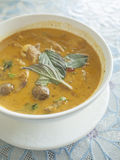 Roast duck with red curry. Royalty Free Stock Images