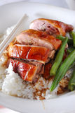 Roast duck rice. Chinese food roast duck rice Royalty Free Stock Photography