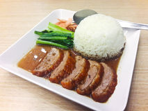 Roast Duck with Rice. Royalty Free Stock Images