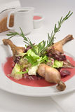 Roast duck with sauce Stock Images