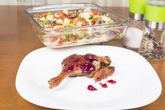 Roast duck whole leg Stock Images