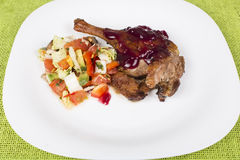 Roast duck whole leg Royalty Free Stock Photos