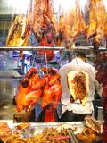 Roast Ducks in the shopping window, Chinatown, New York City. Stock Photography