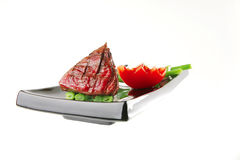 Roast fillet mignon with tomato Stock Images