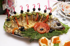 Roast fish Stock Photo