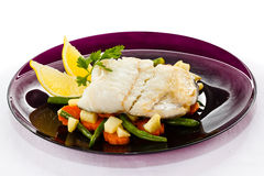 Roast fish fillet Stock Photo