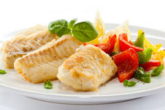 Roast fish fillet Stock Photos