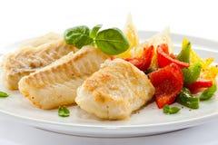 Roast fish fillet Stock Photos