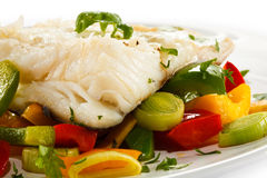Roast fish fillet Royalty Free Stock Photo