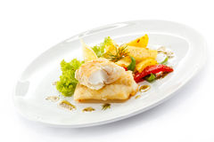 Roast fish fillet Royalty Free Stock Images