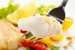 Roast fish fillet Royalty Free Stock Photos