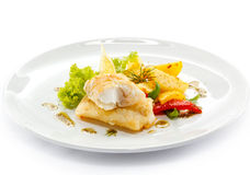 Roast fish fillet Stock Photography