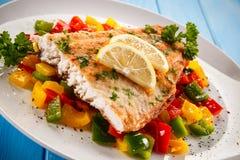 Roast fish fillet Stock Photo