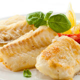 Roast fish fillet Stock Photography