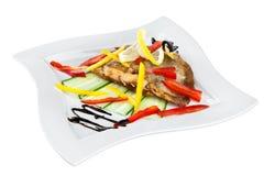 Roast fish on the white Royalty Free Stock Image