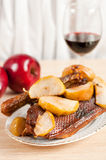Roast goose with apple Royalty Free Stock Photography