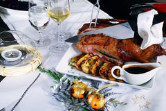 Roast goose Stock Photos