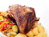 Roast joint of lamb Royalty Free Stock Image