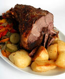 Roast lamb Stock Image