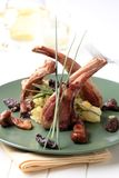 Roast lamb chops Royalty Free Stock Photo