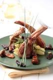 Roast lamb chops Royalty Free Stock Photo