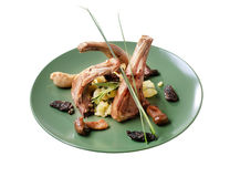 Roast lamb chops Stock Photography
