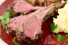 Roast lamb chops Royalty Free Stock Images