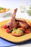 Roast lamb chops and potatoes Royalty Free Stock Photography
