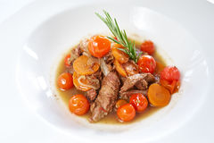 Roast lamb Chops and Vegetables royalty free stock image